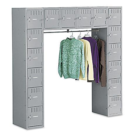 """Tennsco 72"""" 16-Compartment & Coat Bar Locker, Select Color"""