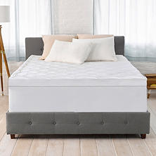 "Serta 4"" Pillow-Top and Memory Foam Mattress Topper"