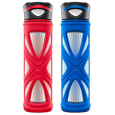 ZULU 2-Pack Core 20oz. Glass Water Bottle Set (Various Colors)