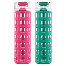 Ello 2-Pack Syndicate 20 oz. Glass Water Bottle Set (Assorted Colors)