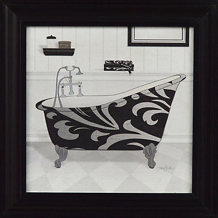 B & W BATH PTM WALL ART