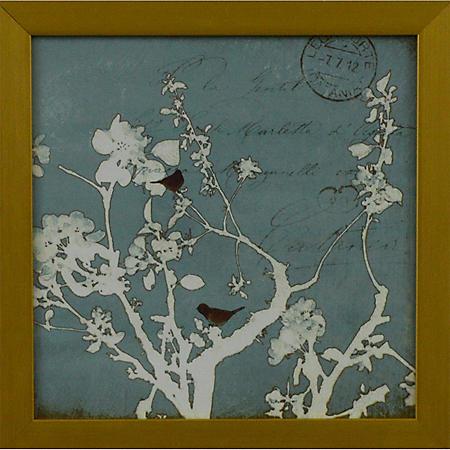 BIRDS ON BRANCH PTM WALL ART