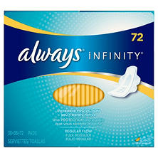 Always Infinity Pads, Regular (72 ct.)
