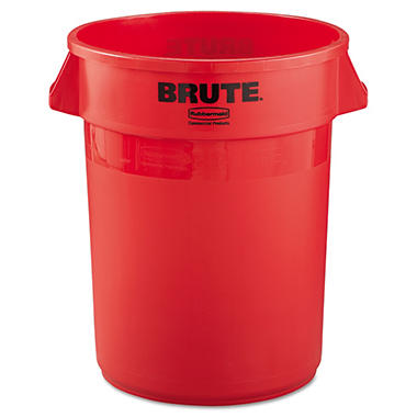 Rubbermaid Brute Trash Can - Red - 32 gal.