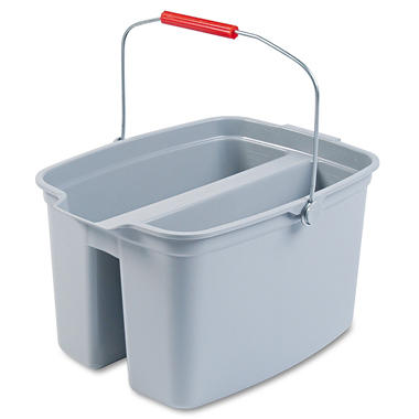 Rubbermaid Gray Double Pail - 19 qt