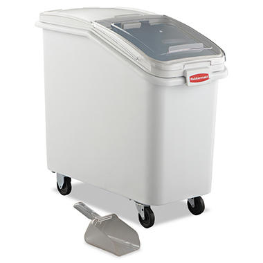 Rubbermaid Commercial ProSave Mobile Ingredient Bin, White
