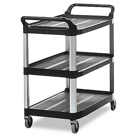 Rubbermaid Xtra™ Open Side Utility Cart, Black