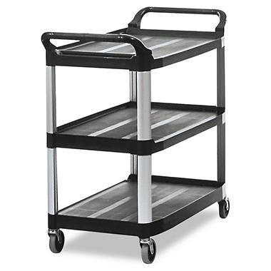 Rubbermaid Xtra™ Open Side Utility Cart, Black