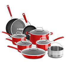 KitchenAid Nonstick 14-Piece Cookware Set (Assorted Colors)