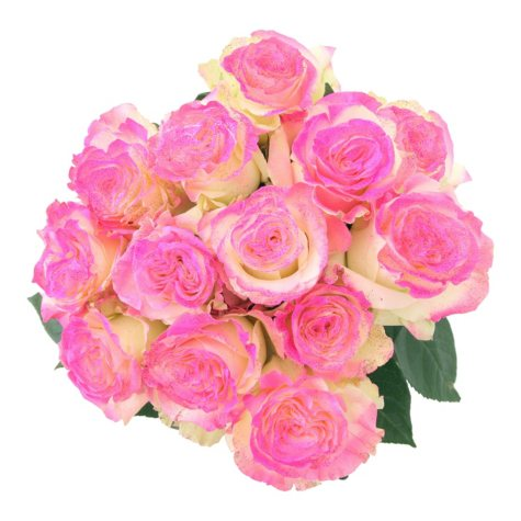 Roses, Fantasy Painted and Glitter Hot Pink (50 stems)