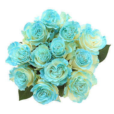 Roses, Fantasy Painted and Glitter Light Blue (50 stems)