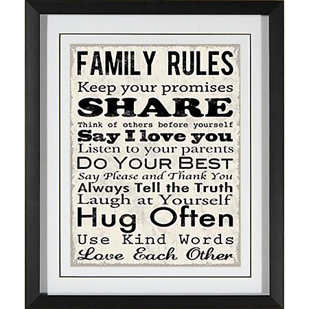 FAMILY RULES PTM WALL ART