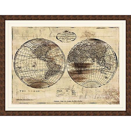 WORLD MAP PTM WALL ART