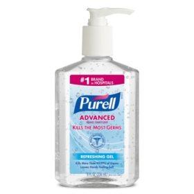 Purell Instant Hand Sanitizer - 8 oz -12 ct.
