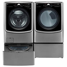 Ultra-Large Capacity Front-Load Washer, SideKick Pedestal Washer and Dryer with Laundry Pedestal Bundle - Graphite Steel