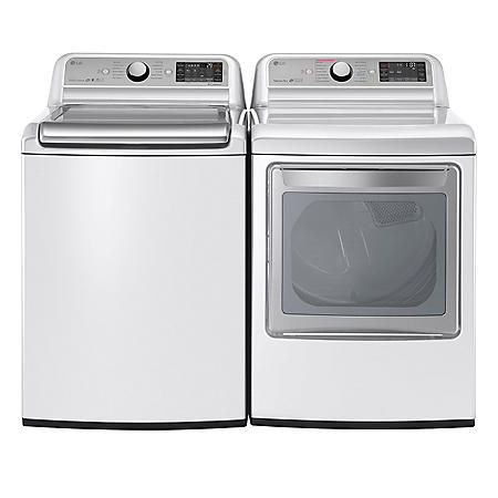 LG - Mega-Capacity Top-Load Washer and Ultra-Capacity Dryer Bundle - White