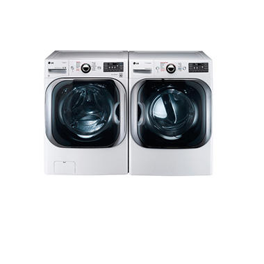 Mega-Capacity Front-Load Washer and Gas Dryer Bundle - White