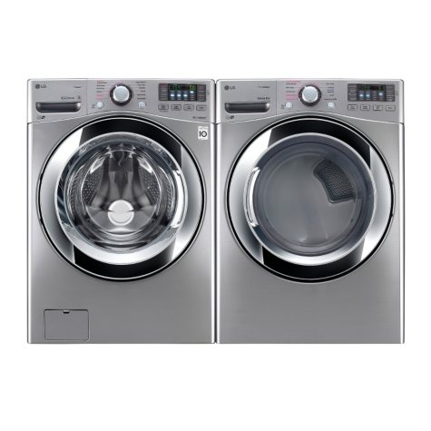 LG Ultra-Large Capacity Front-Load Washer and Electric Dryer Bundle - Graphite Steel