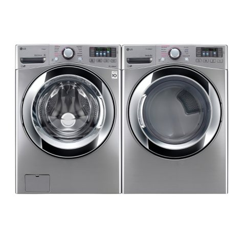 Ultra-Large-Capacity Front-Load Washer with Steam Technology and Gas Dryer Bundle - Graphite Steel