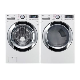 Ultra-Large Capacity Front-Load with Steam Technology Washer and Dryer Bundle - White