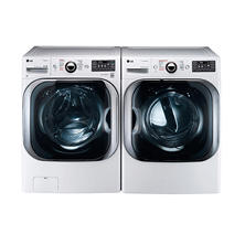 LG Mega-Capacity Front-Load Washer and Dryer Bundle - White