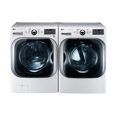 lg frontload washer and dryer bundle white