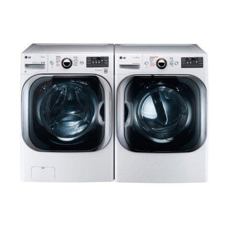 LG Mega-Capacity Front-Load Washer and Dryer Bundle - White