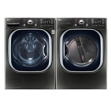 Ultra-Large Capacity Front-Load Washer and Dryer Bundle - Black Stainless Steel