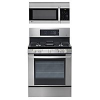 Single Oven Gas Range With Easyclean And Over The Microwave Bundle