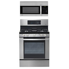 Single-Oven Gas Range with EasyClean and Over-the-Range Microwave Oven Bundle - Stainless Steel