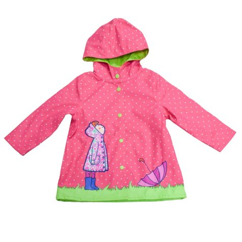 Wippette Toddler Girl's Coral Rainy Day Rain Jacket