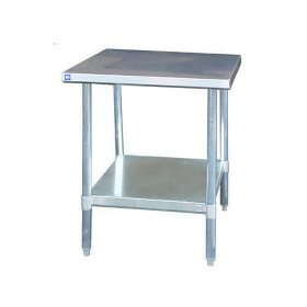 BlueAir Stainless Steel Work Table - 24 in. x 36 in. x 34 in.