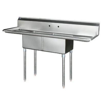 2 Compartment Sink Stainless Steel Various Sams Club