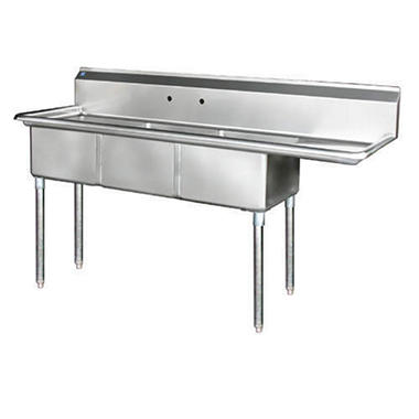 Gentil 3 Compartment Sink   Stainless Steel   Variations