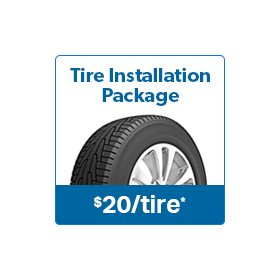 Tire Installation Package - Sam's Club