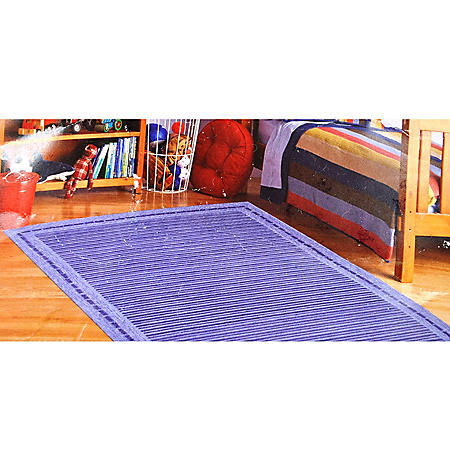 5 X 7 KIDS RUG BLUE STRIPE