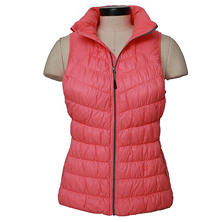 Tangerine Light Weight Shirring Down Vest