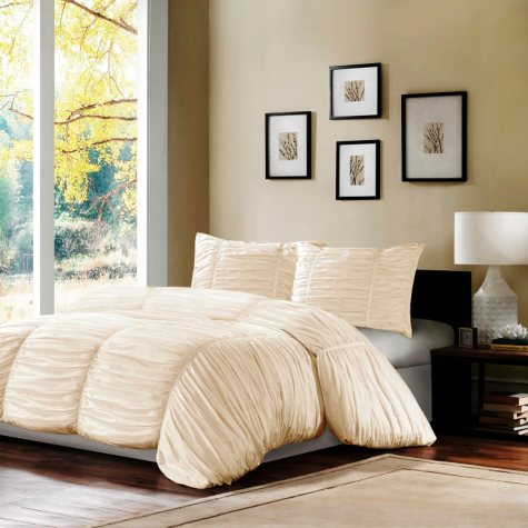 Delancey Rouched Comforter Set -  3 pc.