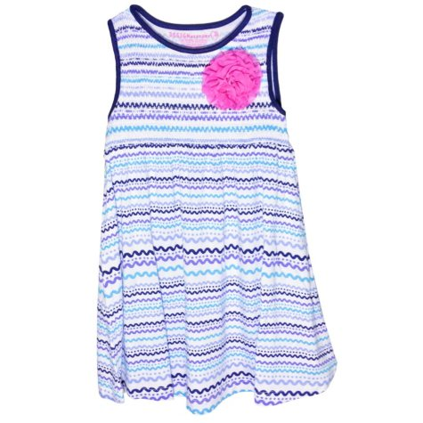 Girl's Flower Ribbon Knit Dress (Assorted Colors)