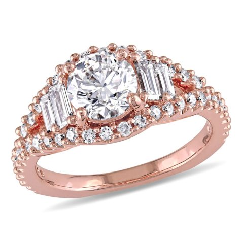 Allura 1.63 CT. T.W. Diamond Cluster Engagement Ring in 14K Rose Gold