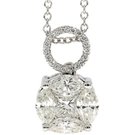 0.75 CT T.W. Diamond Pendant in 14K White Gold