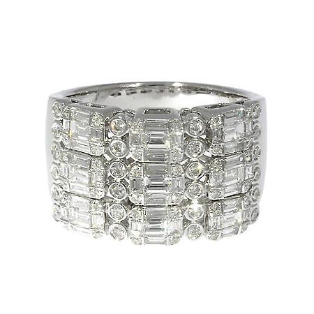1.35 CT T.W. Diamond Ring in 14K White Gold