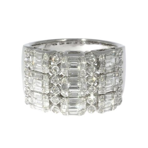 1.35 CT T.W. Diamond Ring in 14K White Gold
