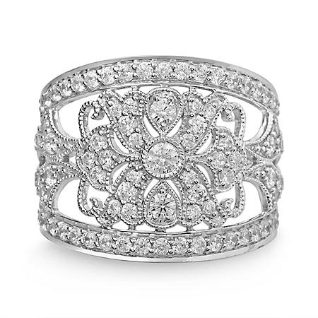 1.25 ct. t.w. Diamond Vintage Ring in White Gold