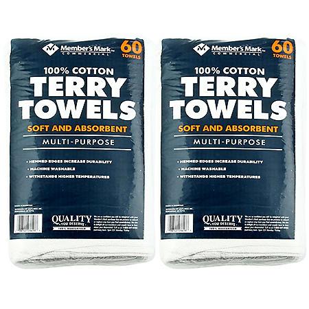 Member's Mark Terry Towels (120 pk.)