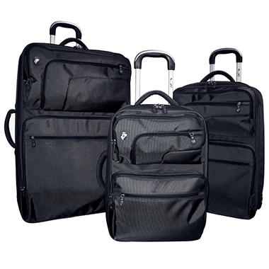 Heys Fuse X2 Hybrid Luggage Set - Black - 3 pc.