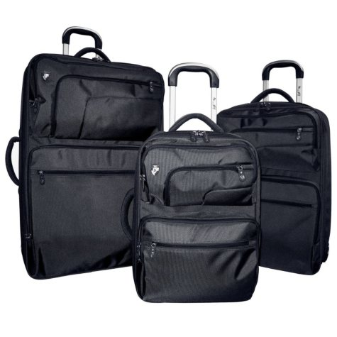 Heys Fuse X2 Hybrid Luggage Set - Black - 3 pc.