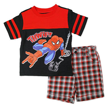 Boys' Spiderman 2-Piece Short Set