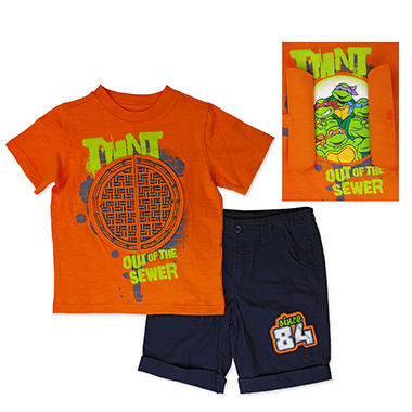 Boys' Teenage Mutant Ninja Turtles 2-Piece Short Set