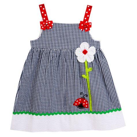 Emily Rose Navy Ladybug Dress